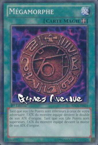 par 2 !! Yu-Gi-Oh SDCR-FR024 Carte Mégamorphe Commune 1ère édition