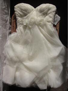 NWT-unaltered-Vera-Wang-White-Wedding-Dress-Size-6-Tea-Length-Organza