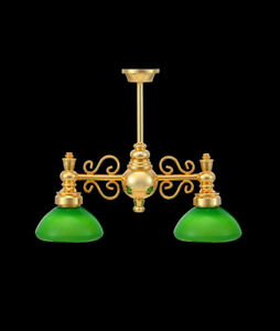 1-12-Dolls-House-Two-Green-Arm-Games-Study-Room-Miniature-Light-Lamp-LGW