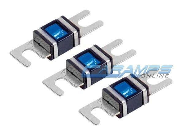 XSCORPION 80 AMP 3 PACK PLATINUM MINI ANL (AFS/MIDI) WAFER FUSES WITH LED LIGHT