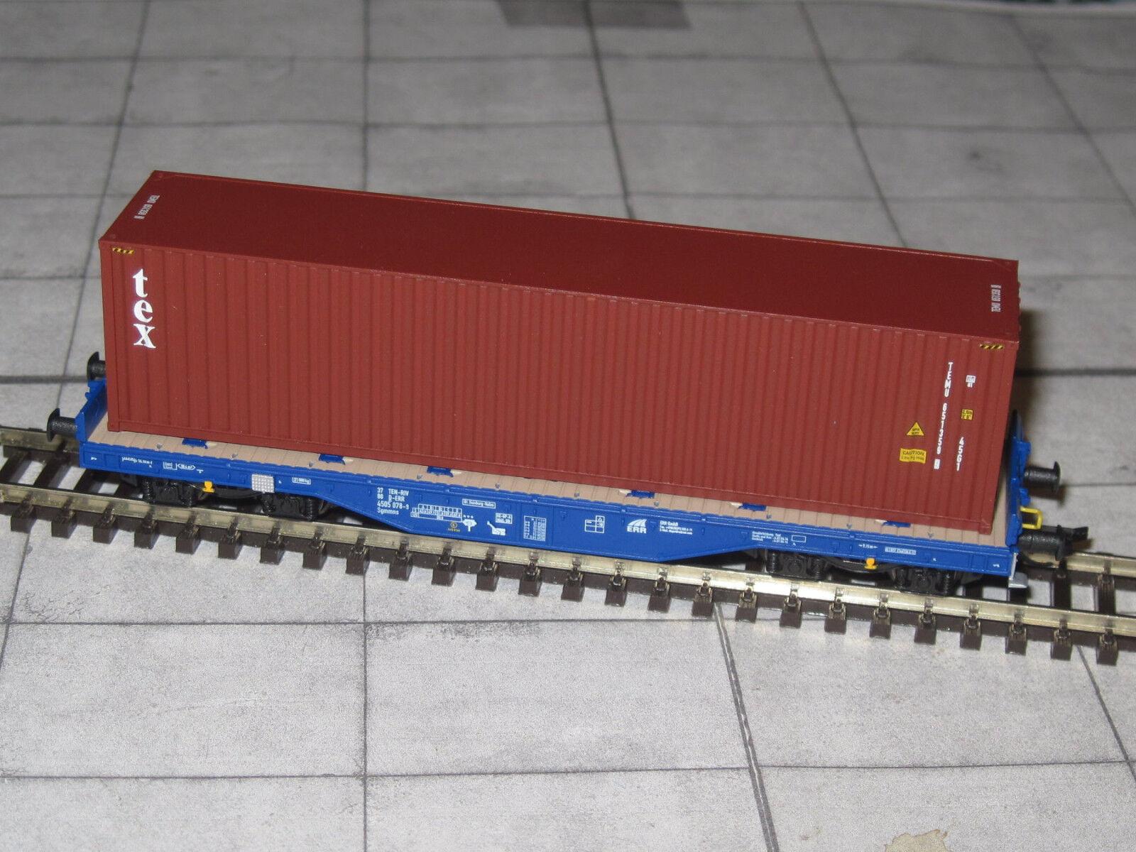 Tillig 15150 tracce GG-piatto carrello sgmmns con container-D-ERR-EP. vi