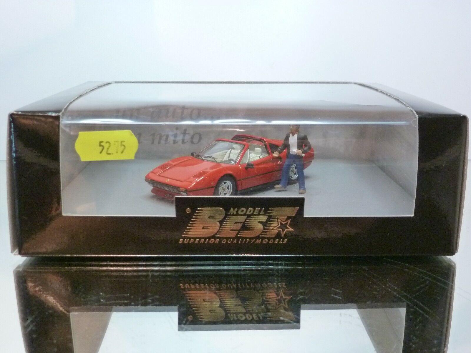 BEST 20032 FERRARI 308 GTS VILLENEUVE CAR 1982 - RED 1 43 - EXCELLENT IN BOX