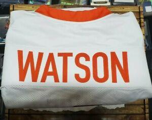 DESHAUN-WATSON-AUTOGRAPHED-CLEMSON-Texans-WHITE-JERSEY-JSA-Gold-Rush