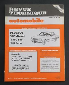 REVUE-TECHNIQUE-AUTOMOBILE-RTA-PEUGEOT-505-RENAULT-4-R5-n-418