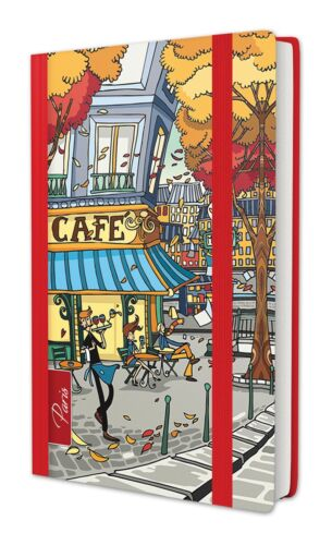 "A7 100 Blatt Kladde ca /""Paris Cafe/"" Notizbuch 70g//m² liniert"