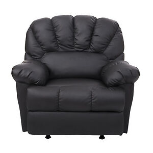 Homcom New Leather Recliner Chair Rocking Sofa Single