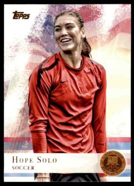 2012 TOPPS OLYMPICS COPPER HOPE SOLO SOCCER #50 PARALLEL