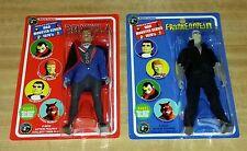 "8"" Universal Monsters Classics Mego Style Dracula + Frankenstein Figures"