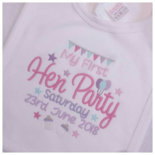 Personalised Baby Bib Baby Clothes My First Hen Party