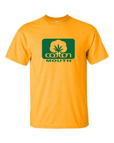 Cotton Mouth Humorous Marijuana Cannabus Funny POT Smoking Tee Shirt