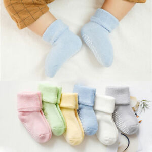 Solid-Color-Cotton-Newborn-Kids-Socks-Anti-Slip-Socks-Baby-Girls-Boys-Soft-Socks