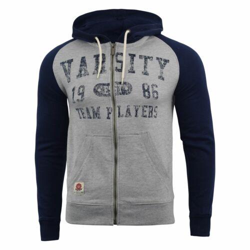 Mens Hoodie Varsity Sweatshirt Full Zip  Hooded Jumper Top Pullover Dakota