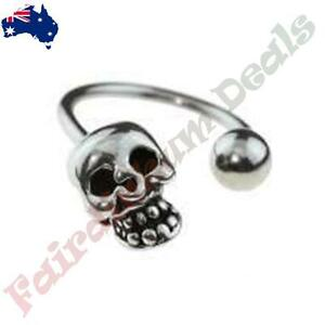 16G-316L-Surgical-Steel-Horse-Shoe-Barbell-with-Skull-amp-Ball-Ends