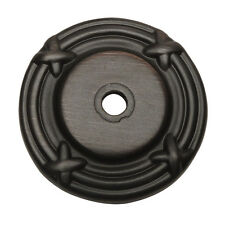 Cosmas Oil Rubbed Bronze Cabinet Knob Backplate #9468ORB