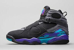 Nike Air Jordan VIII Retro Black Aqua Eminem Supreme 8 Jumpman OV0