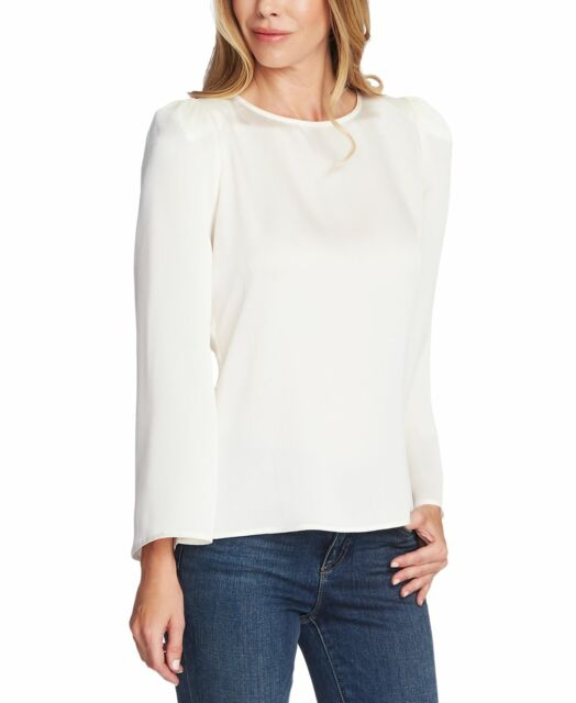 Vince Camuto Women's Top White Ivory Size Medium M Hammer Blouse $89- #093