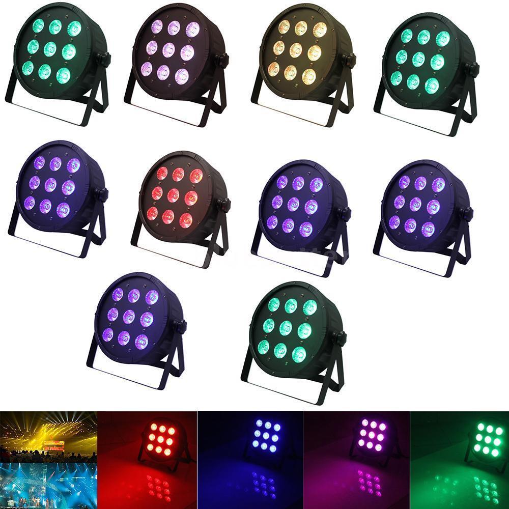 10X 120W Wash PAR Light Fixture 4-in-1 RGBW Stage Lighting DMX LED 8CH V3C4