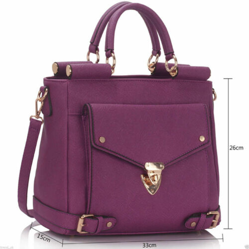 New Womens Designer Ladies Stylish Shoulder Tote Satchel Cross Body Grab Handbag