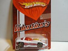 Hot Wheels Valentines White Silhouette II w/OH5 Wheels