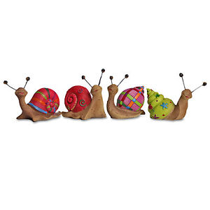 Set-of-4-Small-Bright-Coloured-Snail-Garden-Ornaments-Perfect-Animals-for-Pots