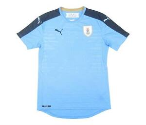 URUGUAY 2016-17 Authentic Home Shirt (eccellente) S Soccer Jersey