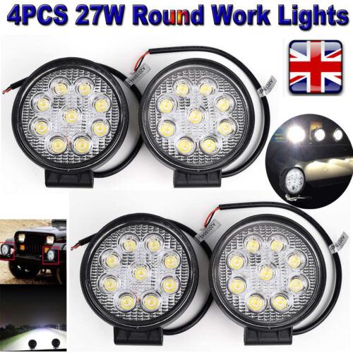 LED Flood Spot Light Bar Driving Work Lamp OffRoad SUV VAN Boat Truck Wiring Kit