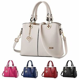 HOT Women PU Leather Shoulder Bags Tote Purse Messenger Hobo Bag ...