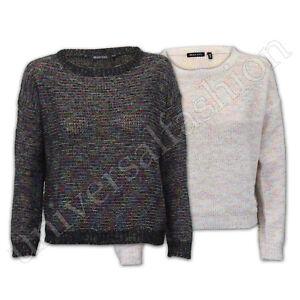 Jumper-Ladies-Alma-valiente-para-mujer-Knitted-holgados-Top-Sweater-Pullover-de-punto-Partido
