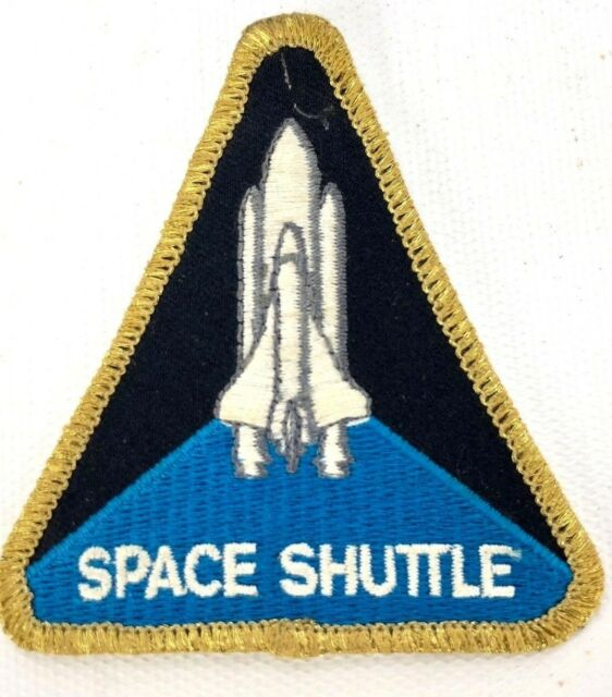 Vintage Authentic NASA Space Shuttle Program Triangle Sew On Patch