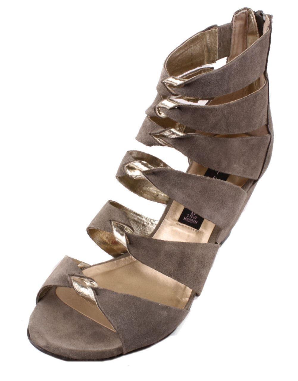Steven by Steven Madden Gabbey Women's Gladiator Wedge Sandal (Taupe)