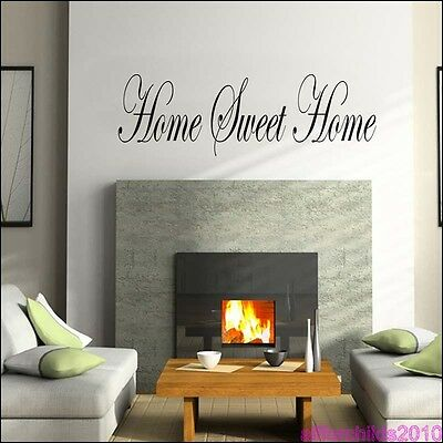 HOME SWEET HOME WALL  STICKER  -  LOUNGE BEDROOM ART AFC2