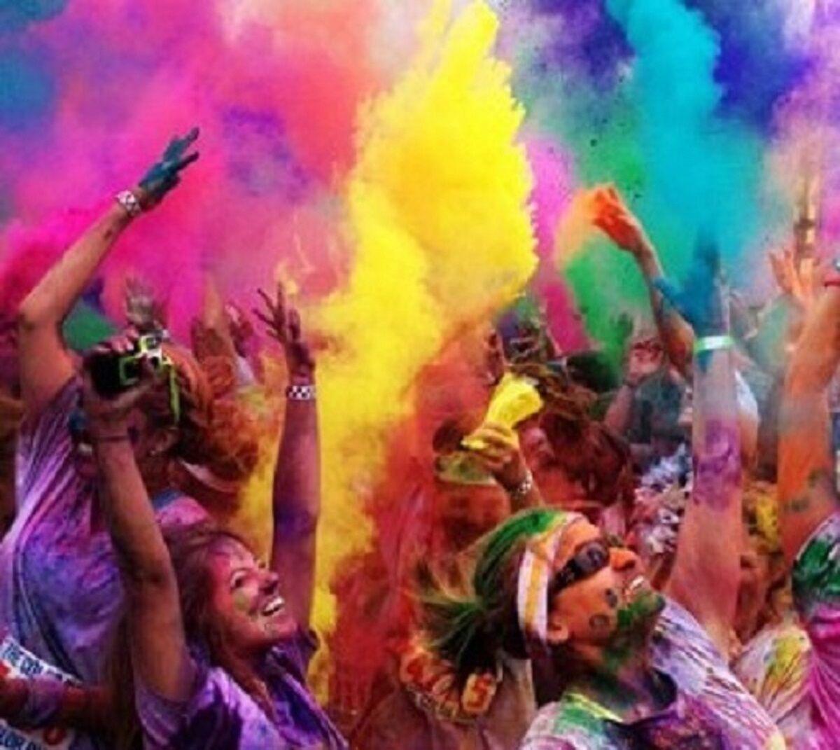500 X100GM Sacs Festival couleur Run jeter de la poudre Holi Gulal poudre en 6 Cols