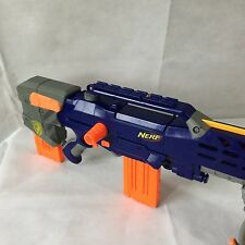 Nerf N Strike Longshot CS-6 Rifle Gun 2 Clips Dart Sniper Blaster Barrel Blue