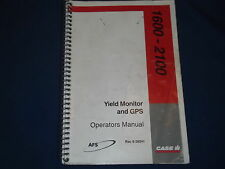 CASE YIELD MONIOTOR FOR 1600 2100 COMBINE OPERATION & TROUBLESHOOTING MANUAL