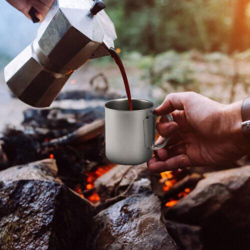 Outdoor Camping Titanium Cup Portable Ultralight Picnic Hiking Cooking Water Mug