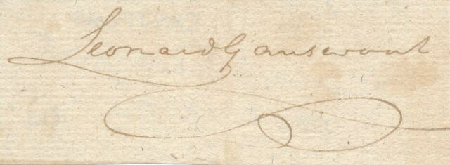 Leonard Gansevoort - Signature of the Continental Congressman from New York