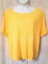 OLD NAVY PLUS SZ XL 18 20 1X YELLOW FLORAL TOP NWT