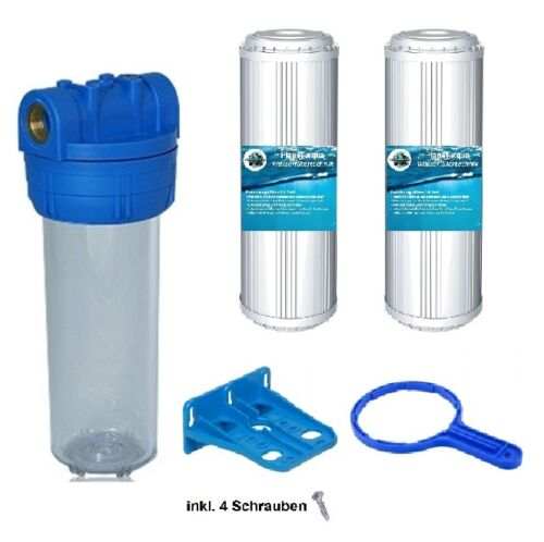 Filtergehäuse Set 10 1/2 IG Kalkfilter Halterung Schlüssel Wasser Vor Filter
