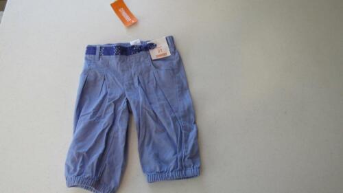 Gymboree Safari Smiles Bue Capri Pants w//Faux Belt Size 12-18-24 mos 2T NEW
