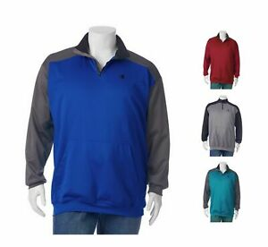 CHAMPION-Mens-Colorblock-Performance-1-4-Zip-Pullover-Big-amp-Tall