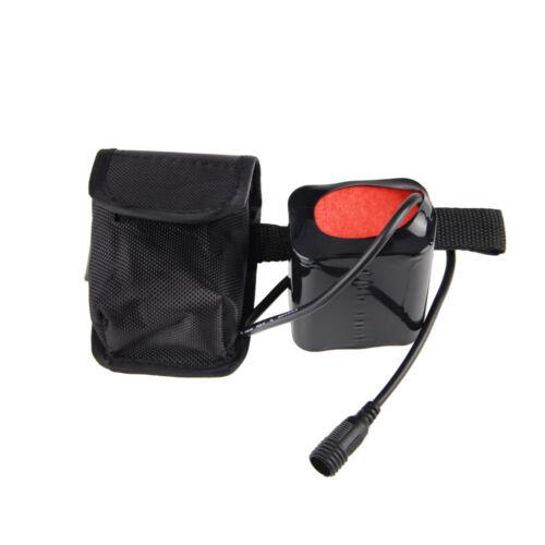 Rechargeable 12000mAh 8.4V 6X18650 Bicycle LED Light Bike Headlight Battery Pack