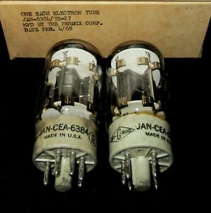 NOS-NIB-AUTHENTIC-BENDIX-6384-PREMIUM-6L6GC-TYPE-MATCHED-PAIR