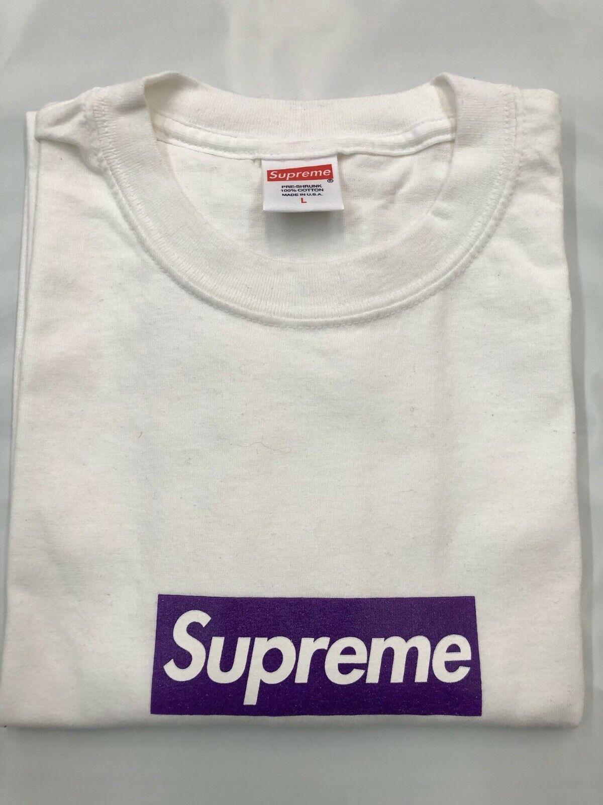 SUPREME Friends And Family F&F Purple Box Logo White L 3 6 Mafia