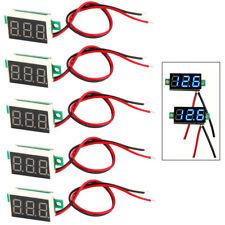 5pcs Mini Blue Dc 3 30v Led Panel Voltmeter 3 Digital Display Voltage Meter New