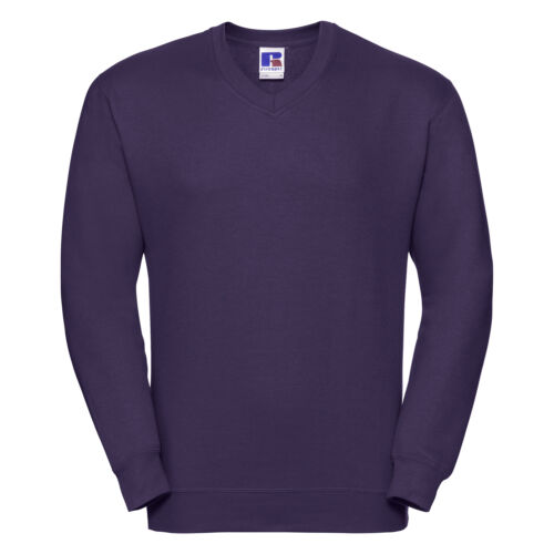 Details about  /Russell Mens Office Workwear Work V Neck Sweatshirt Sweater Jumper Pullover