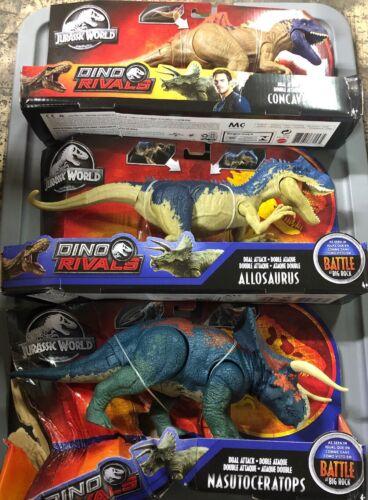 Choisissez le vôtre Entièrement neuf dans sa boîte Jurassic World Action Attaque Mega Dual Attack Action Figures