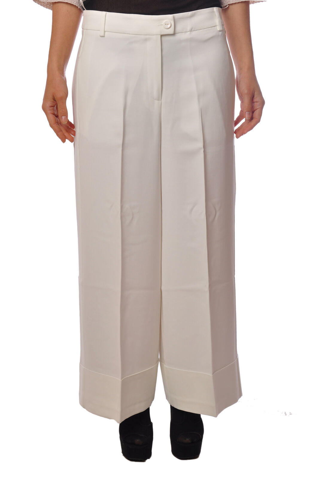 Twin Set  -  Pants - Female - WHITE - 2019618A185407
