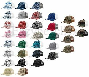 3c41c4da402 Image is loading Richardson-Trucker-Logo-camo-Baseball-Cap-Meshback-Hat-