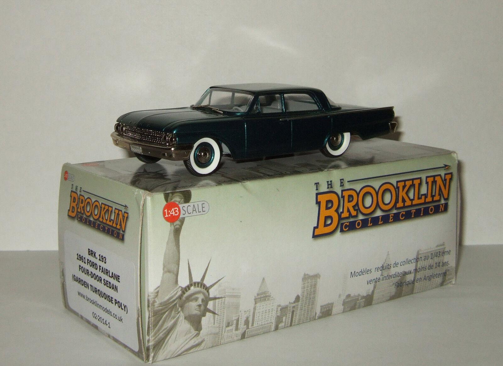 Limousine Ford Fairlane Four Door Sedan 1961 Brooklin Models 1 43