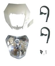 NEW KTM HEADLIGHT MASK ASSEMBLY KIT WHITE 2014-2015 XCF-W EXC XCW EXC-F 14WHTHEA